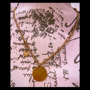 NWT Something Navy sleek gold necklace Perfect!